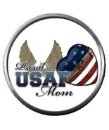 Proud USAF Air Force Mom Love Our Military Troops 18MM-20MM Snap Jewelry... - $5.95