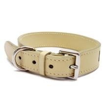 HERMES collar (for pets) H logo leather beige x blue  - $408.87