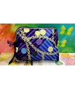 Estee Lauder Purple Black Blue Golden Chain Makeup Case Cosmetic Bag wit... - $12.19