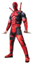 Deluxe Muscle Chest Adult Deadpool Costume Standard size up to 44 - $70.00