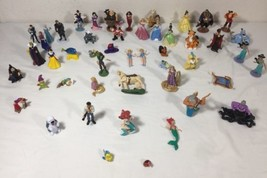 Lot of 49 Disney Action Figures Toy Figurines Frozen Mermaid Aladdin Bea... - $148.49