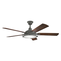 Kichler 310117WZC Hatteras bay patio Ceiling Fans 60in Weathered Zinc 4-light - $659.00