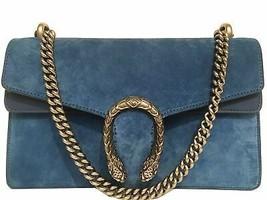 Gucci Suede Dionysus Shoulder Bag Blue Rare Color - $1,881.00