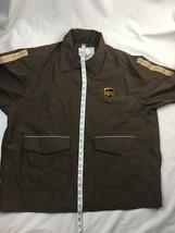 UPS Long Sleeve Full Zip Brown Rain Jacket Adult Men's Size L  (42-44) large  image 5