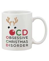 OCD Obsessive Christmas Disorder Coffee Mug - Funny X-Mas Mug (JMC002) - $14.99