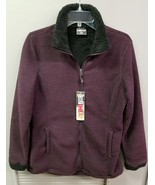 Women's 32 DEGREE HEAT Fleece JACKET, Maroon (rebel), Med - $21.16
