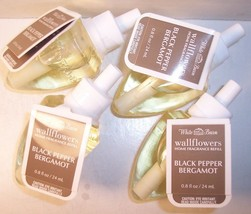 4 Bath & Body Works Wallflower Diffuser Refill Bulb Black Pepper Bergamot - $39.99