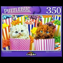 350 Piece Jigsaw Puzzle, Puzzlebug 18 in. x 11 in., Popcorn Kitty Surprise - $5.65
