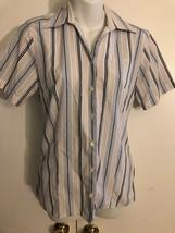 US Airways Damen Hemd Bluse Größe 4r Stan Herman Zwilling Hill Stewadess - $14.91