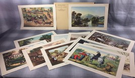 Framing Prints from The Travelers Currier & Ives Calendars- 1951 - $29.39