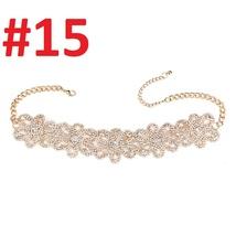 Best lady 2017 Rhinestone Choker Crystal Gem Luxury Collar Chokers Necklace - $201,94 MXN