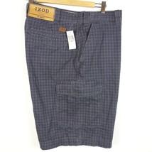 IZOD Gray Plaid 100% Cotton Cargo Shorts Men's 42 NEW NWT - $27.99