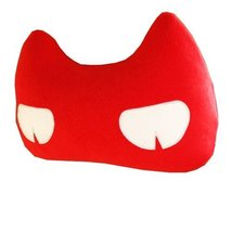 Creative Auto Supplies/Lovely Cartoon Car Seat Neck Pillow, (Cat) RED