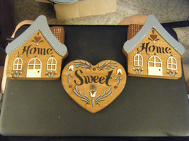 """Vintage Home Interiors Wood """"Home Sweet Home"""" Hanging Wall Decor - $20.98"""