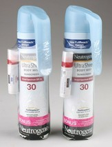 Neutrogena Ultra Sheer Body Mist Sunscreen SPF 30 w/ Bonus Lip Moisturizer 2 PK - $10.99
