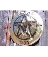 Texas Star Longhorn Steer Western 1836 sign plaque Iron Plasma cutout 0306 - $94.98