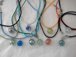 Cracked Marble Necklaces with or without crescent moon, retro - $12.00