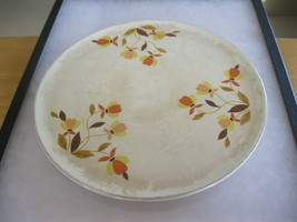 "SUPERIOR HALL QUALITY DINNERWARE # M-5 9 ½"" CAKE PLATE JEWEL AUTUMN LEAF - $12.00"