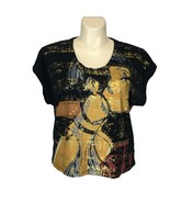 Custo Barcelona CHIC High Illustration Couture 1 M L Top T Shirt Unique ... - $69.95