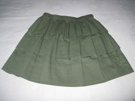 Q MACK LADIES ADORABLE SAGE 100% COTTON 3-TIERED MINI-SKIRT-XS-NWT-ORIG.... - $6.99