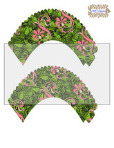 CupCake Wrapper9-Digital Clipart-Holiday-Gift Tag-Digital Paper - $2.00