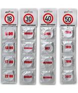 HAPPY BIRTHDAY CONDOMS 18 30 40 50 CONDOM SET SEXY FUNNY ADULT NOVELTY G... - $10.29