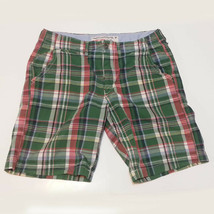 American Eagle Outfitters Men Size 32 Cotton Shorts Plaid Print Classic ... - $19.35