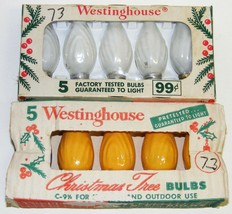 10 Vintage Westinghouse Flame Swirl C9 Christmas Light Bulbs Some NOS - $25.00