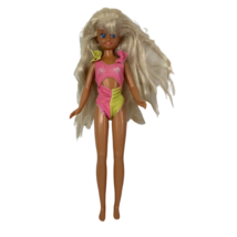 Vintage Skipper Doll 1980s Wet N Wild Teen Barbie Pink and Yellow Swimsuit - $15.99