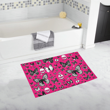 Skulls & Butterflies on Pink Bath Rug 20''x 32'' - $29.57