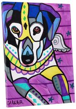 "Pingo World 0708QB2NYTM ""Heather Galler Beagle I Dog"" Gallery Wrapped Canvas Wal - $43.51"