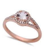 14K Rose Gold .71 Carat Morganite & Diamond Ring - $552.99