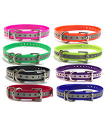 "3/4"" Reflective Replacement Dog Collar Straps-USA Made Sporting Dog Brands - $6.68"