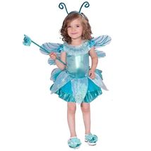 Precious Toddler Girl's Blue Dragonfly Tutu Dress Complete Costume w/Win... - $29.99