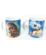 2 Star Wars R2-D2 and Chewbacca Ceramic Coffee Mug Cup Galerie 12oz Lucas - $9.89