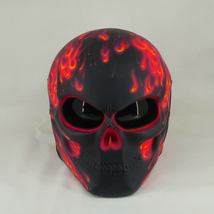 New Arrival Skull Motorcyle Helmet Red Fire Ghost Rider (Dot & Ece Certified) - $250.00