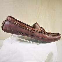 TOMMY BAHAMA Pompai Mens Brown Leather Slip On Loafer Boat Shoes Size 8.5M - $29.99