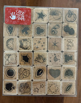 Close to my Heart Block Rubber Stamps Solid Surprises Super Set 30 Piece... - $9.49