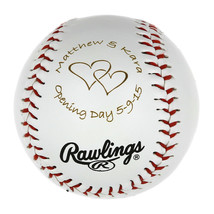 Personalized Baseball Birthday ball Wedding Gift Ball Wedding Announceme... - $9.99