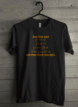 And God Said Light Physics Science Men's T-Shirt - Custom (534) - $19.12+