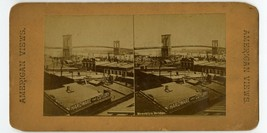 Brooklyn Bridge New York City Stereoview Photo Card   - $12.95