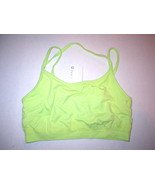New Womens NWT Fabletics Top XS Lime Green Bra Yoga Pilates Sports Dance... - $10.00