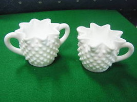 Vintage Fenton Hobnail Sugar And Creamer.................Sale - $12.47