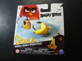Angry Birds Speedsters - Green Leonard and Yellow Chuck - You Get Both!!!! - $9.89
