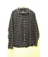 American Eagle Men Shirt Prep Fit 100%Cotton Long Sleeve Size XL Blue an... - $10.15