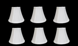 "Urbanest Chandelier Lamp Shades, Set of 6, Soft Bell 3""x 6""x 5"" White, C... - $62.99"