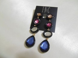 "INC International Concepts 3-1/2"" Gold-Tone Multi-Stone Drop Earrings S2... - $11.51"