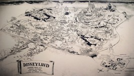 1954 Disneyland Map (Concept) Reproduction Poster 24 X 36 Inches Nostalgia - $19.94