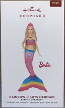 2019 Hallmark Keepsake Barbie Rainbow Lights Mermaid Ornament With Light... - $18.95