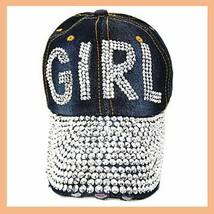 GIRL BLING Ball Cap Denim NEW image 1